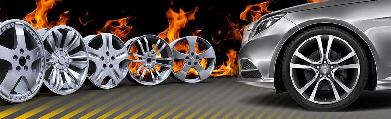 Автомобильные диски после окрашивания порошковой краской