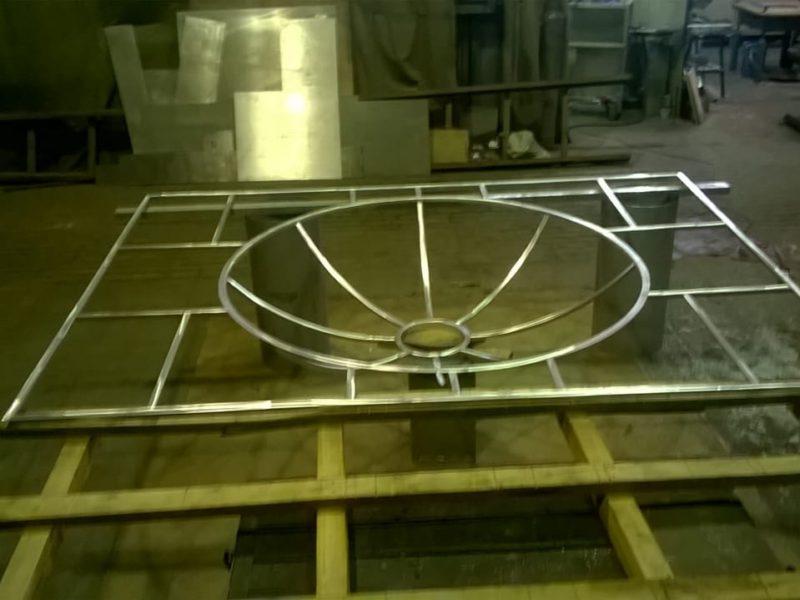 Подвесной потолок из алюминия