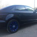 Покраска колесных дисков в синий цвет