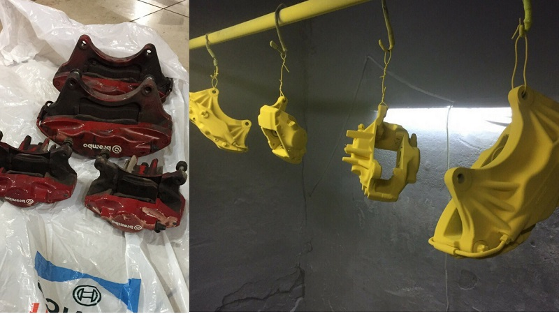 Подготовка и окрашивание суппортов порошковой краской