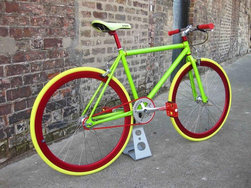 Велосипед после окрашивания порошковой краской
