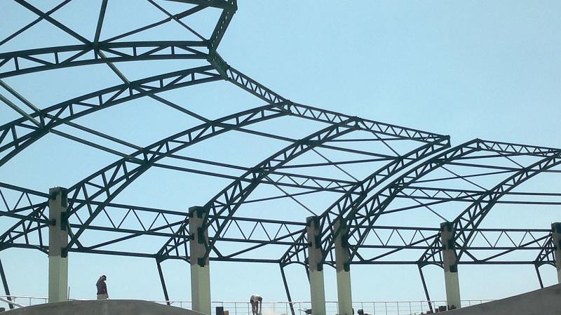 Установка и сборка крупногабаритной металлоконструкции